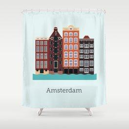 Vector City - Amsterdam Shower Curtain