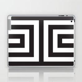 Black Greek Stripes Laptop & iPad Skin