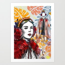Fashion Illustration 2 High Fashion Girl Art Print