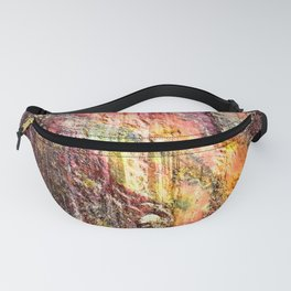 Colorful Nature : Texture Warm Tones Fanny Pack