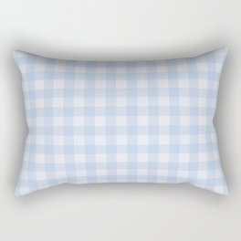 Gingham Pattern - Blue Rectangular Pillow