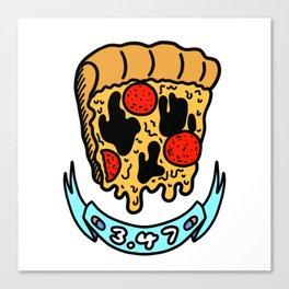 Pizza Face 3.47 Canvas Print