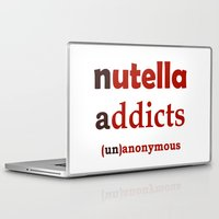 nutella Laptop & iPad Skins featuring Nutella Addicts Unanonymous by Jozi