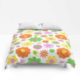 Vintage Daisy Crazy Floral Comforters