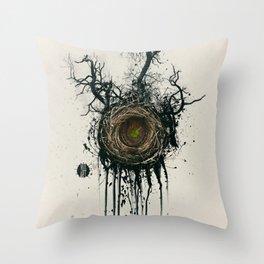 Bird Nest Throw Pillow