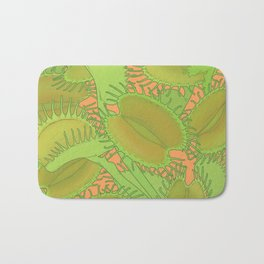 Free Hugs (Venus flytrap - Orange) Bath Mat
