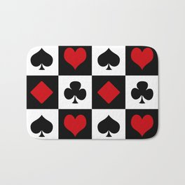 Playing card Bath Mat