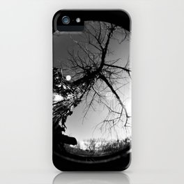 Fisheye Dead Tree Black and White iPhone Case