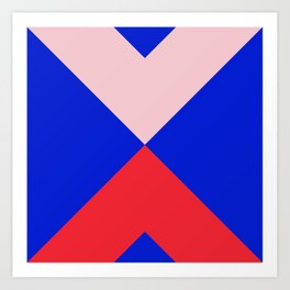 Minimal X Pink & Royal Art Print