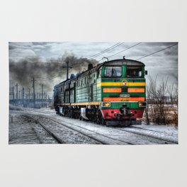 Diesel Train Locomotive Rug