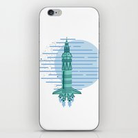 rocket iPhone & iPod Skins featuring Rocket by Emma Winton