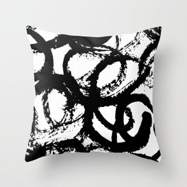 Dance Black and White Throw Pillow