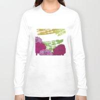 peonies Long Sleeve T-shirts featuring Peonies by rusanovska