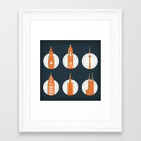 cities Framed Art Prints featuring Cities by Monica O