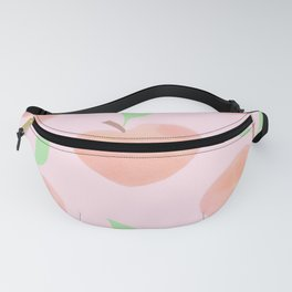 Pastel Pink and Orange Summer Peaches - Fanny Pack