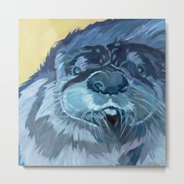 Mustache the Otter Metal Print