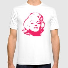 MARILYN POP MEDIUM White Mens Fitted Tee