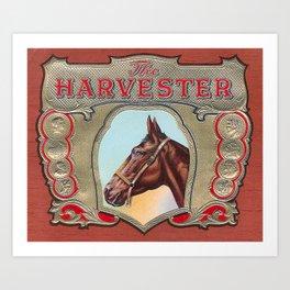 The Harvester Vintage Horse Racing Art Print