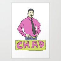chad wys Art Prints featuring chad by gutswav