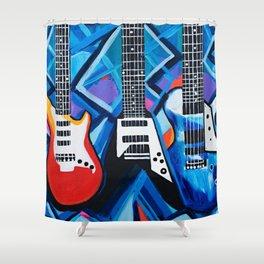 Guitar Trio Shower Curtain