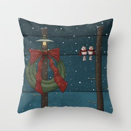 There's a Feeling of Christmas Throw Pillow