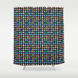 Peacock Tile Shower Curtain