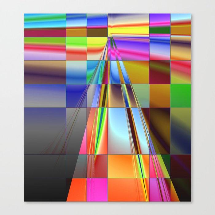 highway to rectangular city Canvas Print