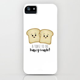 A Toast To The Happy Couple! iPhone Case