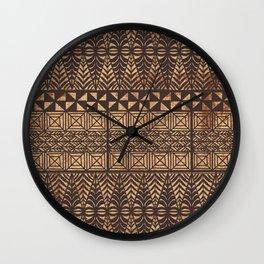UrbanNesian Tongan Ngatu Wall Clock