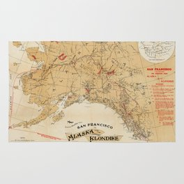 Map of Alaska 1898 Rug