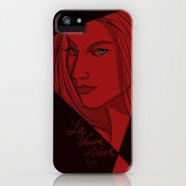 Le Veuve Noire - The Black Widow iPhone Case