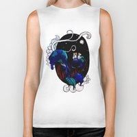 alice in wonderland Biker Tanks featuring Wonderland by deebaucheryy