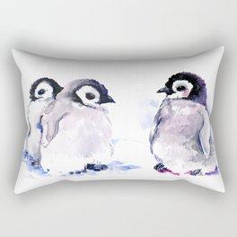 Penguins, penguin design baby penguin art, children gift Rectangular Pillow