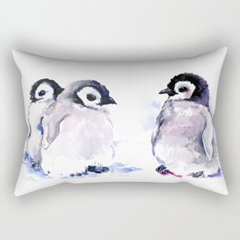 Penguins, penguin design baby penguin art, children gift Rectangular Pillow