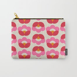 Flowers geometry - retro pattern no2 Carry-All Pouch
