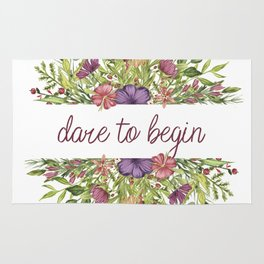Dare to begin - Wild Flowers Collection Rug