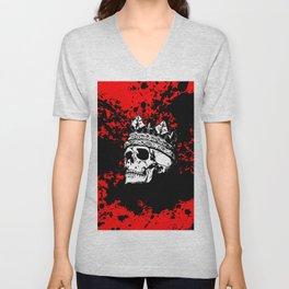 Skulking Skull King Unisex V-Neck