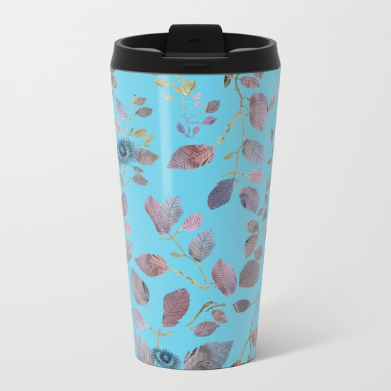 Blue Nature Metal Travel Mug