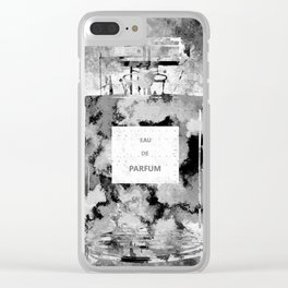 Perfume Black and White Clear iPhone Case