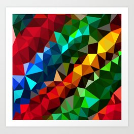 Geometric elements Art Print