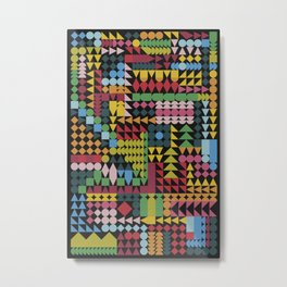 Colorful Geometric Abstraction Metal Print