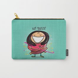 Hug Yourself #happywoman Carry-All Pouch