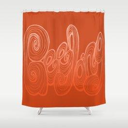 Geelong Typography - Orange Shower Curtain