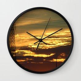 Prairie Silhouette Wall Clock