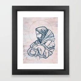 Jesus Christ Good Shepherd Framed Art Print