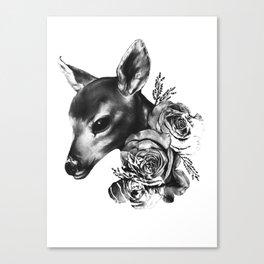 Fawn & Flora II Canvas Print