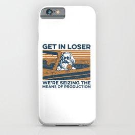 karl marx get in loser iPhone Case