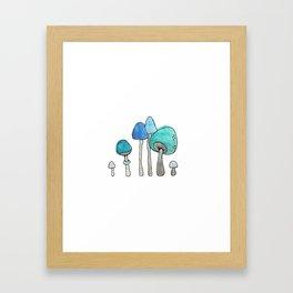 Shroom Village Framed Art Print
