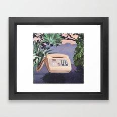 Late Nite Phone Talks Framed Art Print