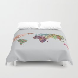 Afrocentric chic i duvet cover by lanrepeacock society6 world map duvet cover gumiabroncs Image collections